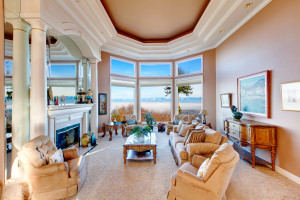 Inside view of a Mountain View home from a living room
